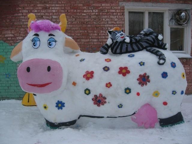 Фигурки и скульптуры из снега своими руками