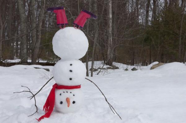 Как слепить из снега снеговика