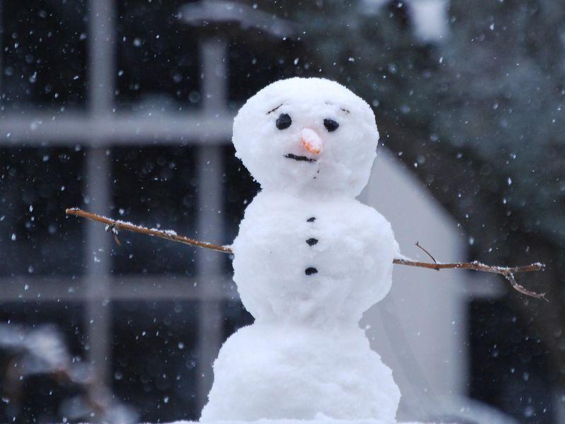 Как слепить снеговика из снега своими руками