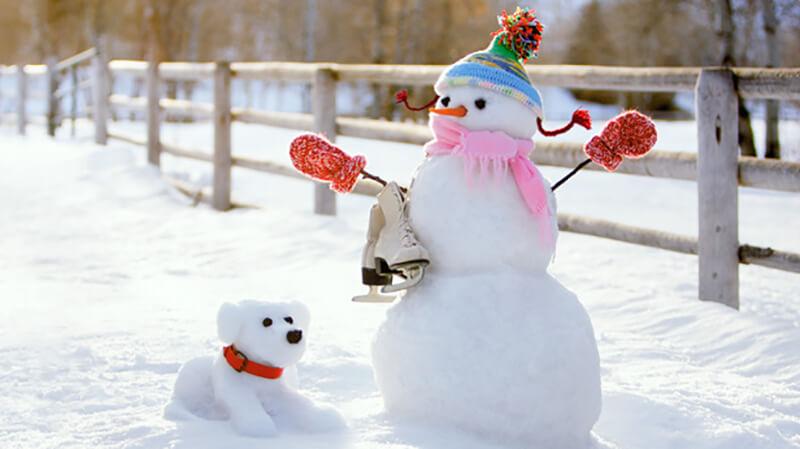 Одежда для снеговика из снега