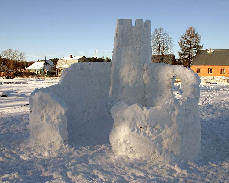 Снежная крепость своими руками