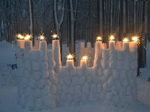 Снежный замок своими руками