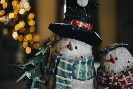 Елочные игрушки снеговики