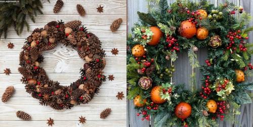 Как красиво украсить дверь к Новому году