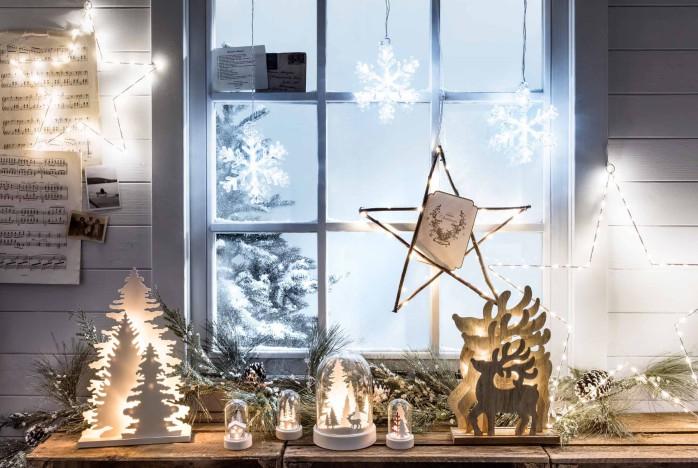 Как красиво украсить окна на Новый год 2018
