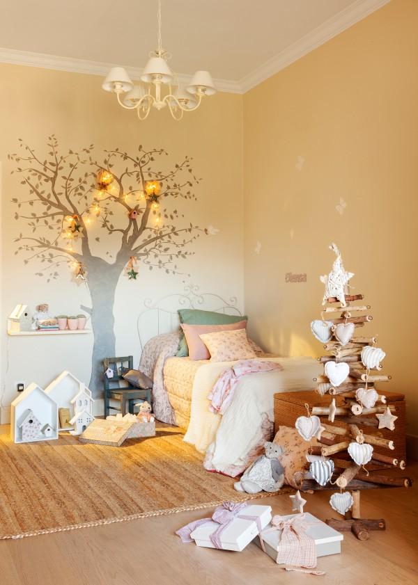 Как можно украсить детскую комнату к Новому году