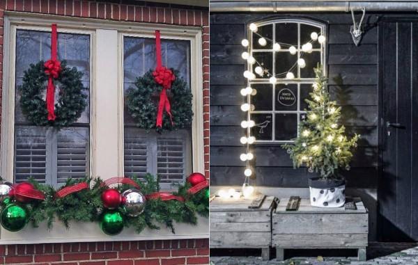 Как украсить на Новый год окна снаружи