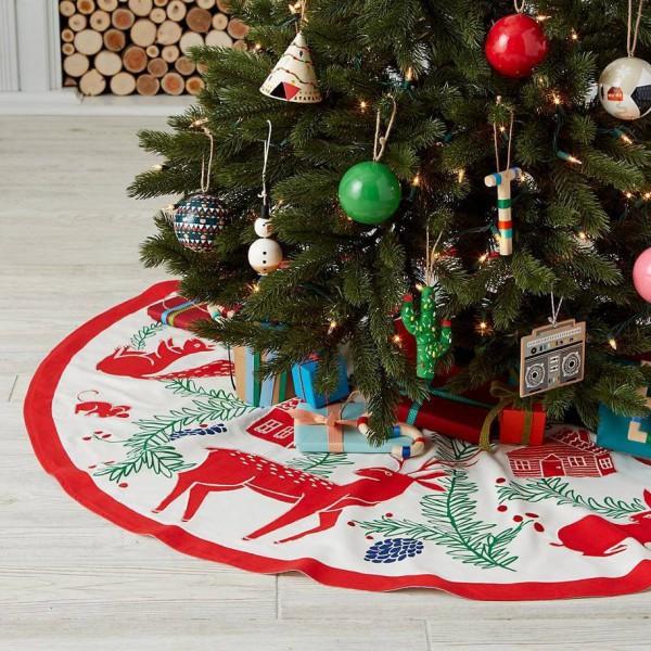 Как украсить низ елки на Новый год