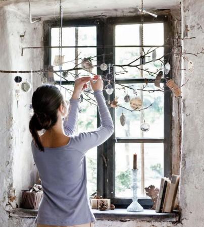 Как украсить окна на Новый год 2018