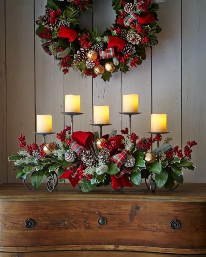 Канделябр новогодний для украшения дома