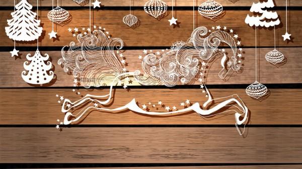 Красивое украшение стены к Новому году из бумаги
