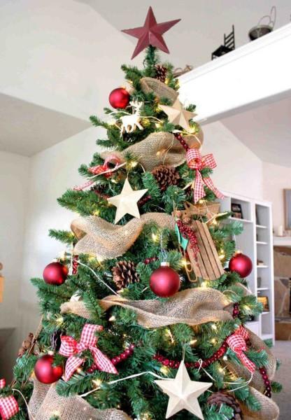 Мешковина для украшения елки