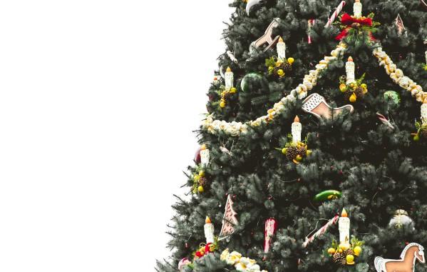 Новогодние украшения на уличную елку