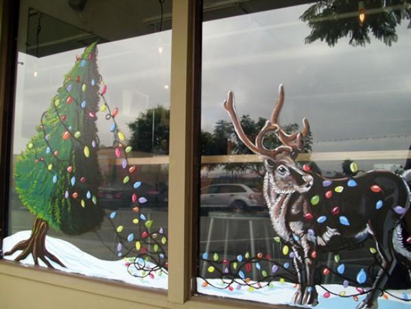 Оригинальные рисунки для украшения окон к Новому году