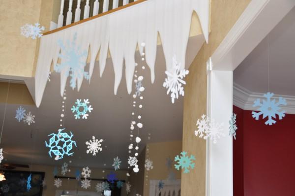 Подвесные украшения к Новому году на потолок