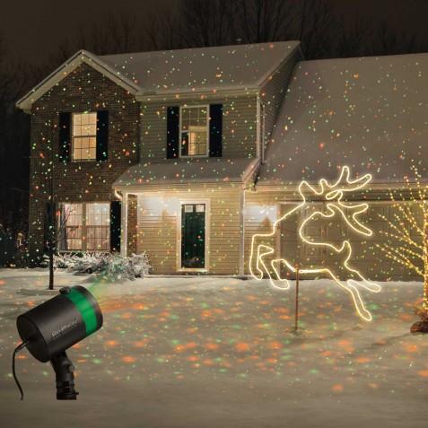 Проектор для украшения дома на Новый год