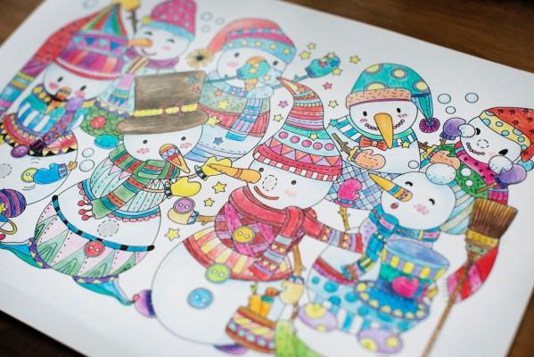 Рисунки для украшения комнаты к Новому году