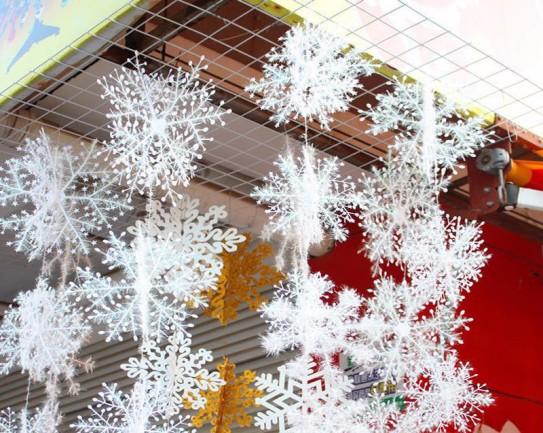 Снежный дождик для потолка