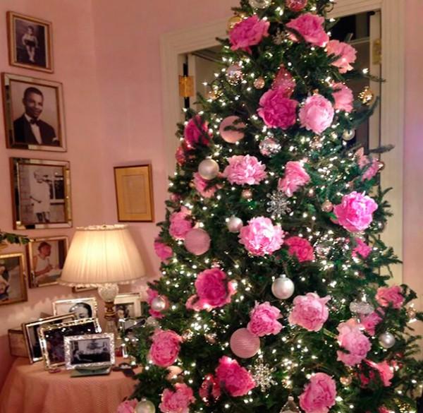 Цветы для украшения новогодней елки