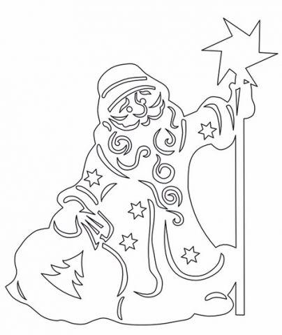 Трафареты вытынанки для украшения окна к Новому году
