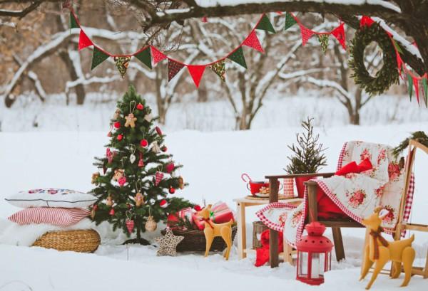 Украшение к Новому году частного или загородного дома
