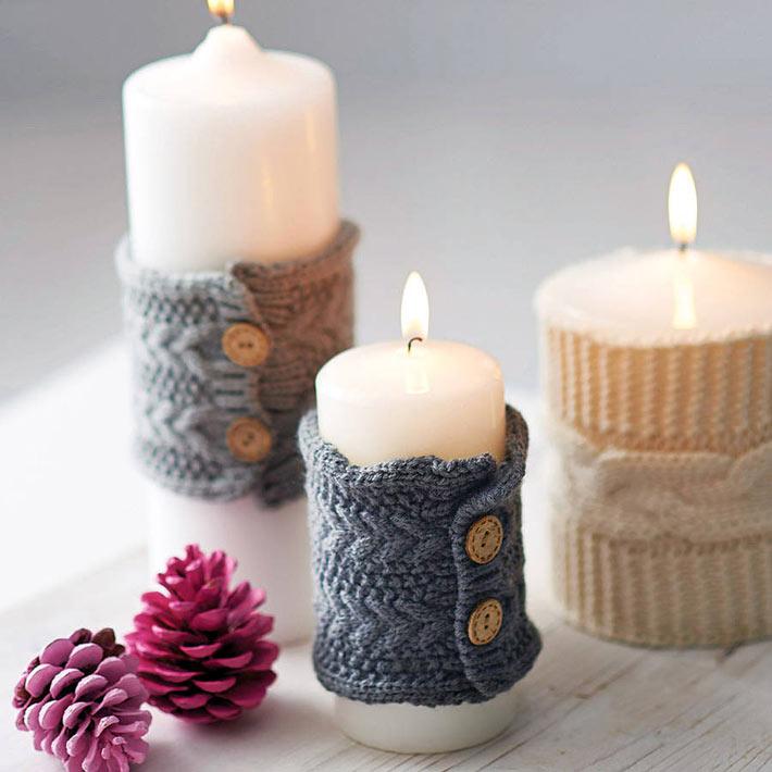 Украшение комнаты свечами к Новому году