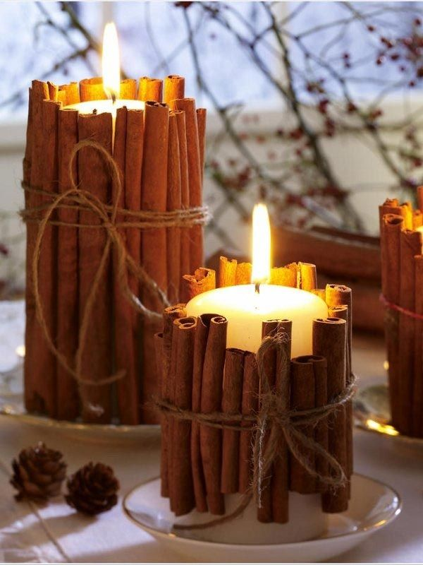 Украшение комнаты свечами