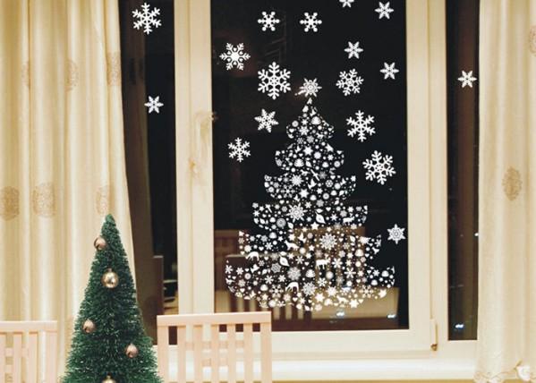 Украшение окон вытынанками к Новому году