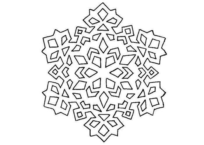 Вытынанка снежинка трафарет