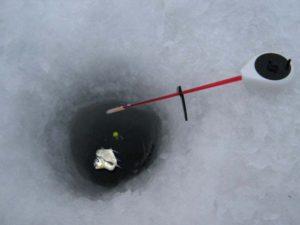 Зимняя поплавочная удочка на леща